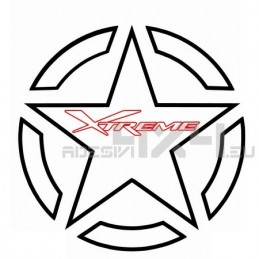 Adesivo stella US ARMY XTREME 30cm