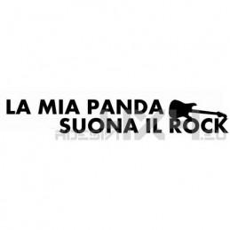 Adesivo la mia panda suona il rock mod.1