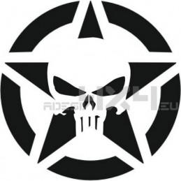 Adesivo stella us armu - the punisher 20cm