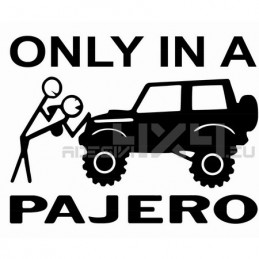 Adesivo only in a pajero