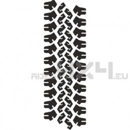 Adesivo impronta pneumatico MUD-04 XL