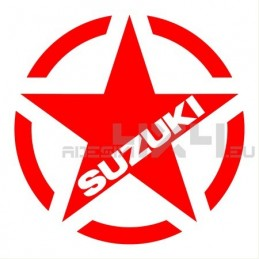 Adesivo stella us army SUZUKI v1