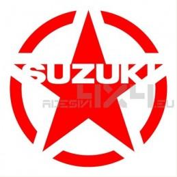Adesivo stella us army SUZUKI v2 20x20cm