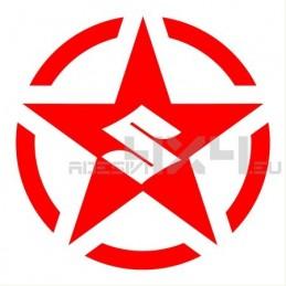 Adesivo stella us army SUZUKI logo L