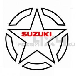 Adesivo stella contorno US ARMY SUZUKI 30cm
