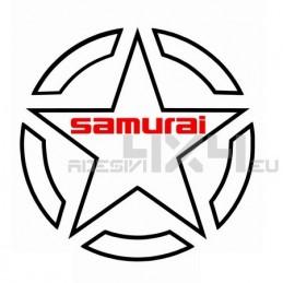 Adesivo stella contorno US ARMY SAMURAI 30cm