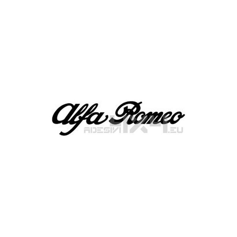 Adesivo scritta alfa romeo