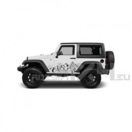 Adesivo montagne jeep