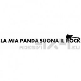 Adesivo la mia panda suona il rock mod.2