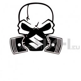 Adesivo Skull Piston gas mask SUZUKI