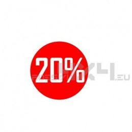 Adesivo vetrina saldi 20%