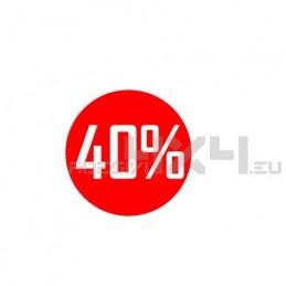 Adesivo vetrina saldi 40%