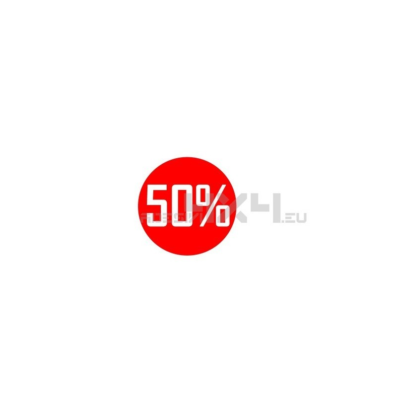 Adesivo vetrina saldi 50%