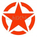 Adesivo stella US ARMY 50x50cm