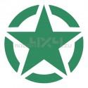 Adesivo stella US ARMY 10x10 cm