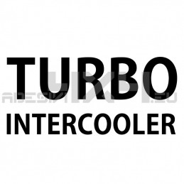 Adesivo TURBO INTERCOOLER mod.f