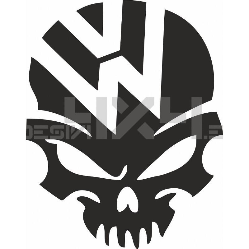 Adesivo volkswagen skull