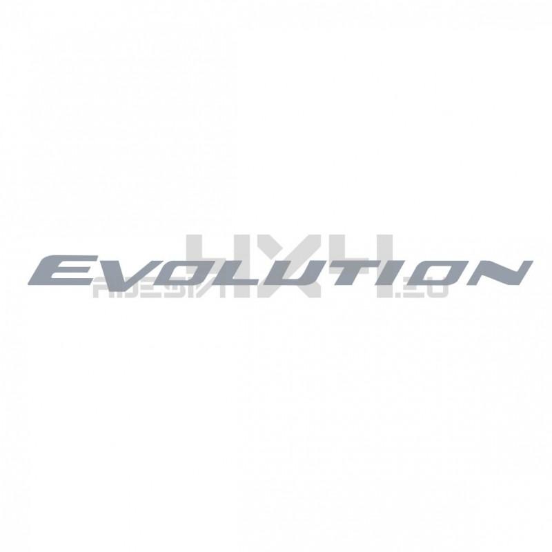Adesivo mitsubishi scritta evolution