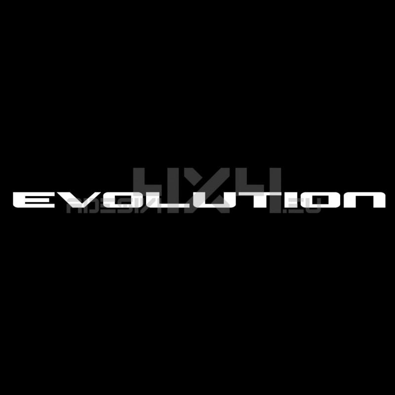 Adesivo mitsubishi scritta evolution mod1