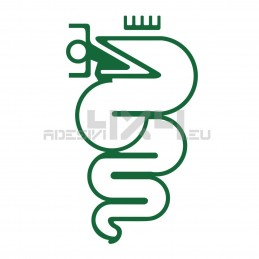 Adesivo stemma alfa romeo