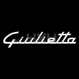 Adesivo alfa romeo scritta giulietta