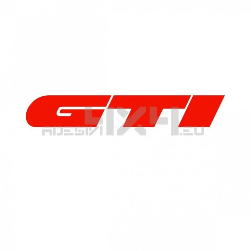 Adesivo scritta GTI