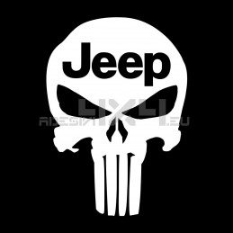Adesivo Teschio THE PUNISHER JEEP