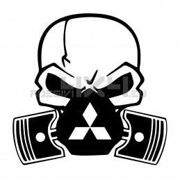 Adesivo Skull Piston gas mask Mitsubishi