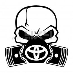 Adesivo Skull Piston gas mask Toyota