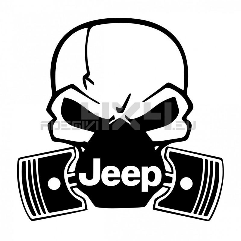 Adesivo Skull Piston gas mask Jeep