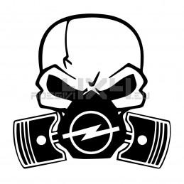 Adesivo Skull Piston gas mask Opel