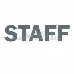 Adesivo scritta STAFF mod.a
