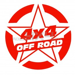 Adesivo stella US ARMY 4x4 off road