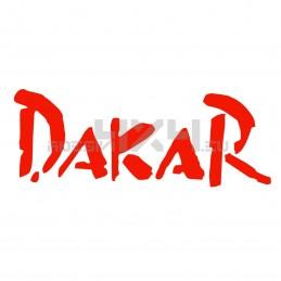 Adesivo scritta Dakar
