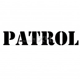 Adesivo nissan patrol scritta us army