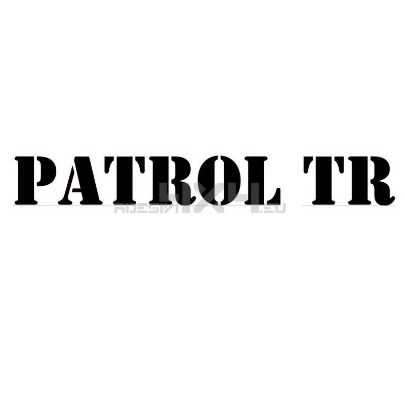 Adesivo nissan patrol TR scritta us army