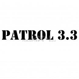 Adesivo nissan patrol 3.3 scritta us army