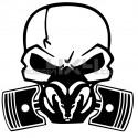 Adesivo Skull Piston gas mask DODGE