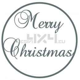 Vetrofania merry christmas cercio