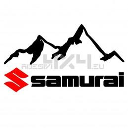 Adesivo 4x4 montagne suzuki samurai