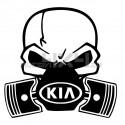 Adesivo Skull Piston gas mask kia