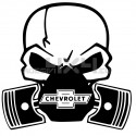 Adesivo Skull Piston gas mask chevrolet