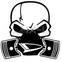 Adesivo Skull Piston gas mask daihatsu