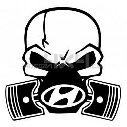 Adesivo Skull Piston gas mask hyundai