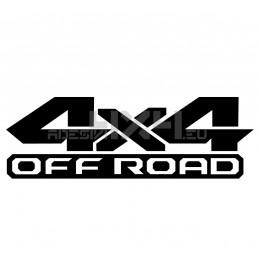 Adesivo scritta 4x4 off road
