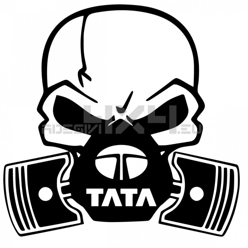 Adesivo Skull Piston gas mask Tata