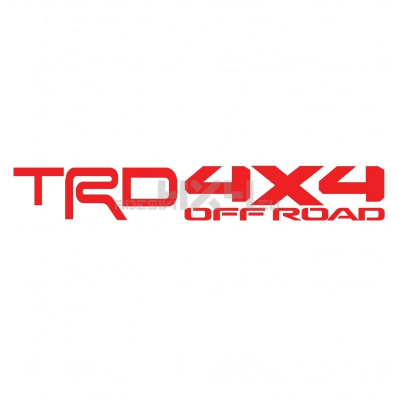 Adesivo toyota scritta TRD 4x4 off road