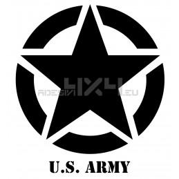 Adesivo stella scritta us army v3