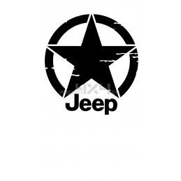 Adesivo stella US ARMY consumata scritta JEEP