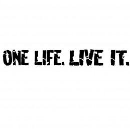 Adesivo One Life Live it scritta mod.a